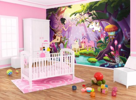 Wallpaper wall mural Fairies and Unicorns